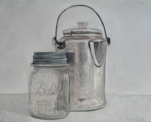 The coffee-pot and the mason jar
